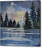 Evergreen Glow Canvas Print