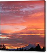 Every Day A Miracle Canvas Print