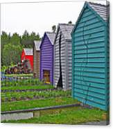 Every Garden Needs A Shed And Lawn Two In Les Jardins De Metis/reford Gardens Near Grand Metis-qc Canvas Print