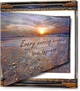 Every Morning Brings A New Beginning II Canvas Print