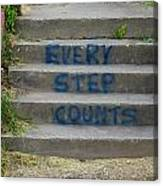Every Step Counts Canvas Print