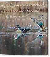 Everybody Deserves Somebody Canvas Print