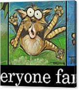 Everyone Farts Poster Canvas Print