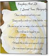 Everything About Life From Photogaphy Canvas Print