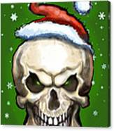 Evil Christmas Skull Canvas Print