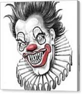 Evil Clown  Canvas Print