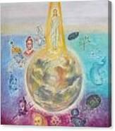 Evolution Of The Spirit In Matter Canvas Print