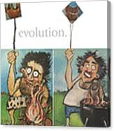 Evolution The Poster Canvas Print