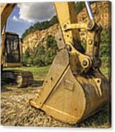 Excavator At Big Rock Quarry - Emerald Park - Arkansas Canvas Print