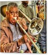 Excelsior Band Horn Player Canvas Print