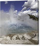 Excelsior Geyser Crater In Yellowstone National Park Canvas Print