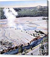 Excelsior Geyser, Yellowstone Np, 20th Canvas Print