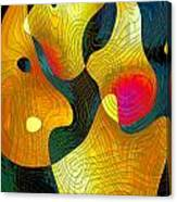 Exchange Of Views Canvas Print