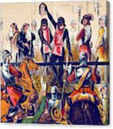 Execution Of Charles I, 1649 Canvas Print
