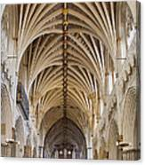 Exeter Cathedral And Organ Canvas Print