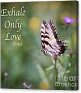 Exhale Only Love Canvas Print