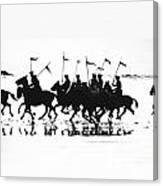 Exhibition Platoon Of The 11th U.s. Cavalry On Del Monte Beach Monterey California 1935 Canvas Print
