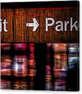 Exit Park Canvas Print