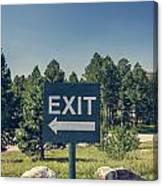 Exit Sign Canvas Print