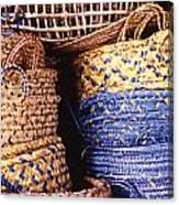 Exotic Baskets Canvas Print