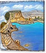 Exotic Beach Near Limassol Canvas Print