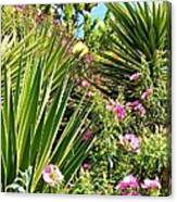 Exotic Hillside Garden Canvas Print