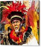 Exotic Painted Face Canvas Print