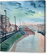 Expanse Hotel And South Promenade In Bridlington Canvas Print