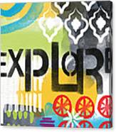 Explore- Contemporary Abstract Art Canvas Print