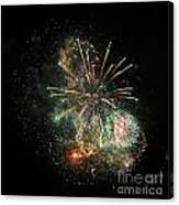 Explosion Of Color On Canada Day Canvas Print