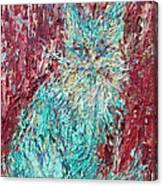 Expressionist Cat Oil Painting.3 Canvas Print