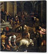Expulsion Of Merchants From The Temple Canvas Print