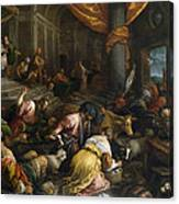 Expulsion Of The Merchants From The Temple Canvas Print