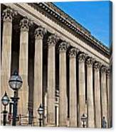 Exterior Of St Georges Hall Liverpool Uk Canvas Print