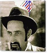 Extra With Flag In Hat The Great White Hope Set Globe Arizona 1969-2008 Canvas Print