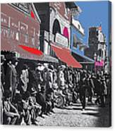 Extras The Great White Hope Set Recreation Reno Nevada July 4th 1910  Canvas Print