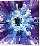 Extrusion Abstract Blue Purple Plum Canvas Print