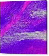 Exuberant Pink Blue Canvas Print