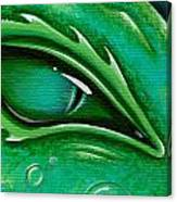 Eye Of The Green Algae Dragon Canvas Print