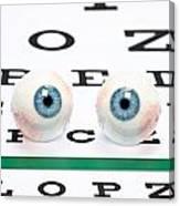 Eyeballs On Chart Canvas Print