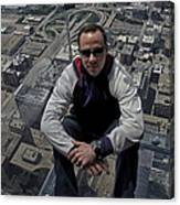 Eyes Down From The 103rd Floor Just Sitting Around Canvas Print