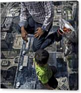 Eyes Down From The 103rd Floor Little Dude With No Fear Canvas Print