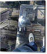 Eyes Down From The 103rd Floor One Big Step Canvas Print