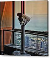 Eyes Down From The 103rd Floor Telescope Looking South Canvas Print