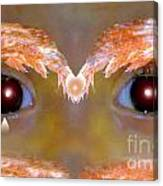 Eyes Of A Child Feathered Canvas Print