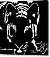 Eyes Of A Tiger 4 Canvas Print