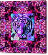 Eyes Of The Bengal Tiger Abstract Window 20130205p0 Canvas Print