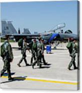 F-15 Pilots Of The 48th Fighter Wing Canvas Print