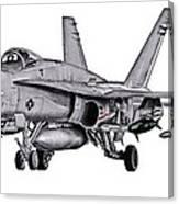 F/a-18c Forward Quarter Canvas Print