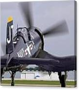 F4u-4 Corsair Prop Wash Canvas Print